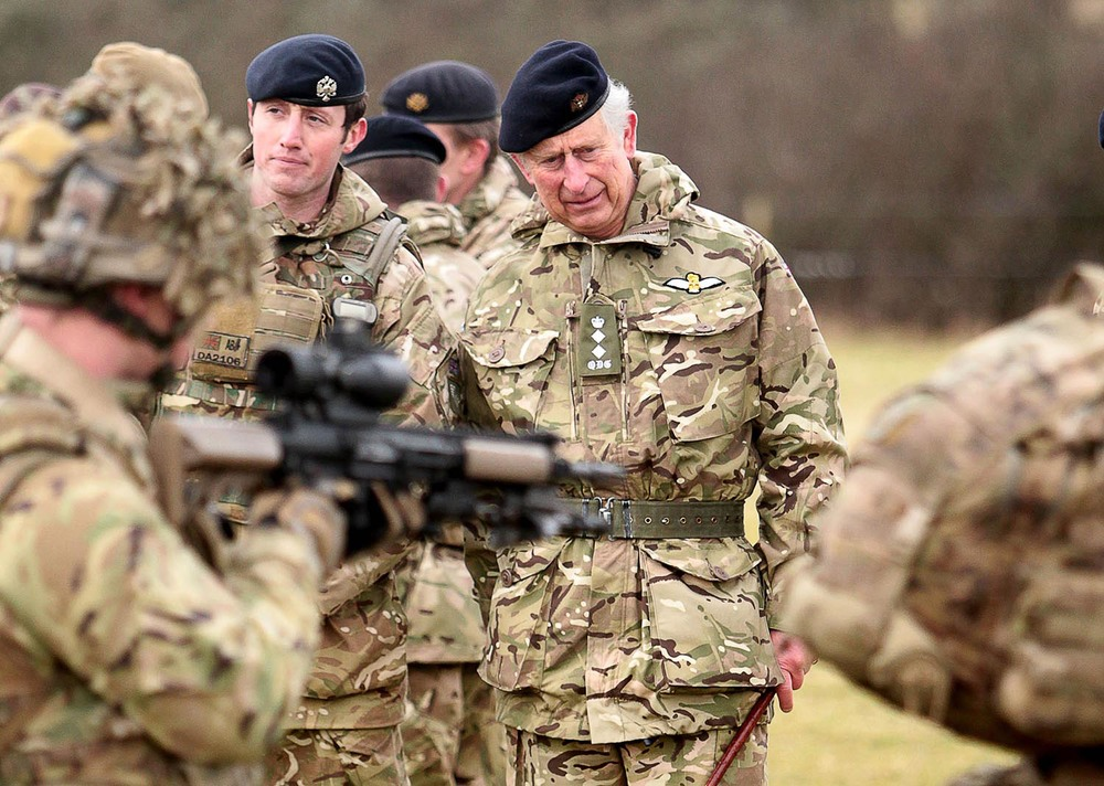 Prince Charles visiting the Castlemartin Range Complex