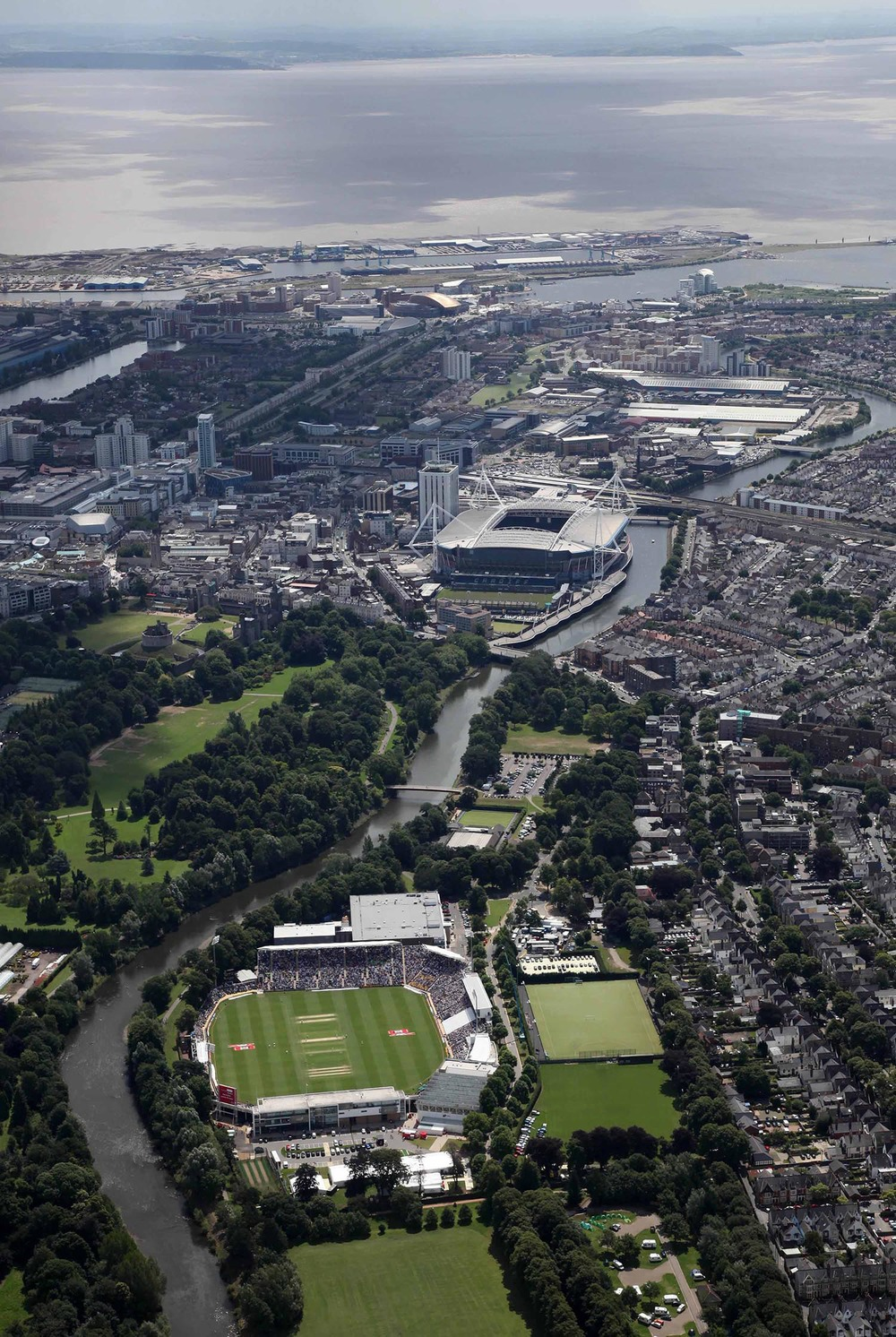 The SWALEC Stadium and Millennium Stadium