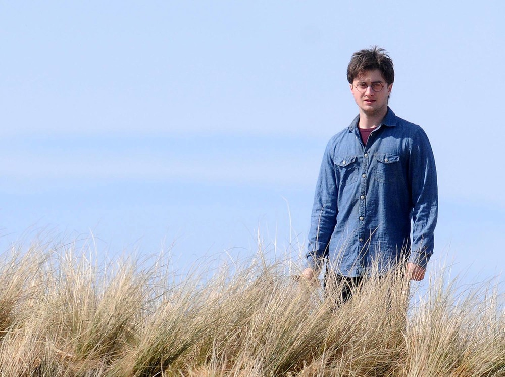 Daniel Radcliffe filming Harry Potter