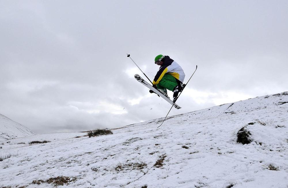 Skier Alwyn Lloyd at Storey Arms
