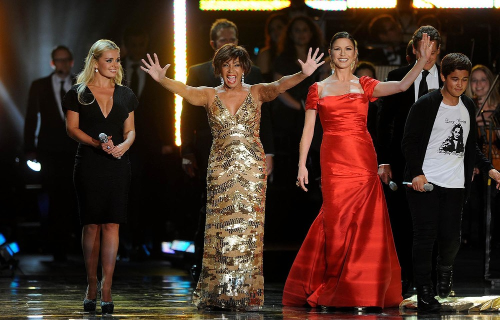 Katherine Jenkins, Shirley Bassey and Catherine Zeta-Jones perform