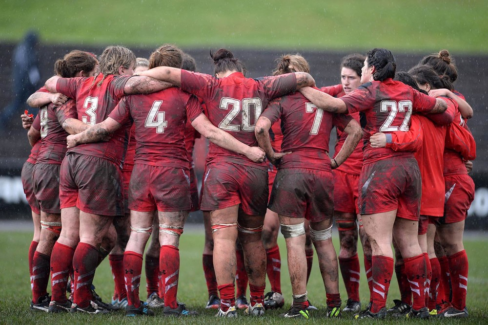 Wales Women's Rugby Team Huddle