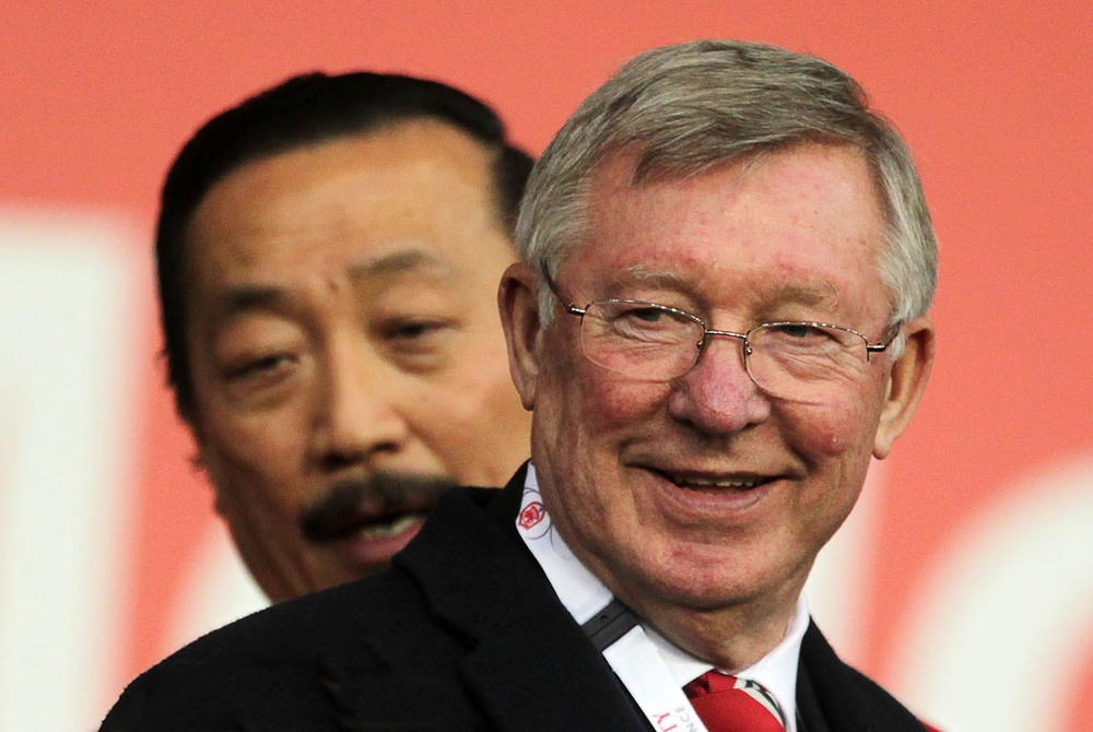 Vincent Tan and Alex Ferguson