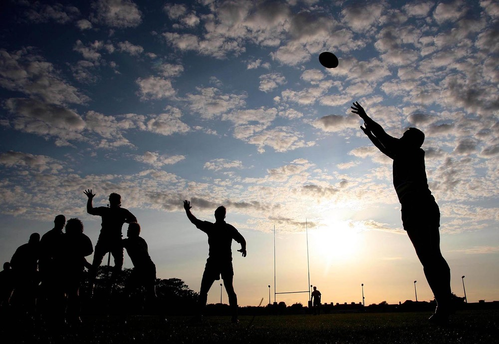 A line out at Galway Sportsground
