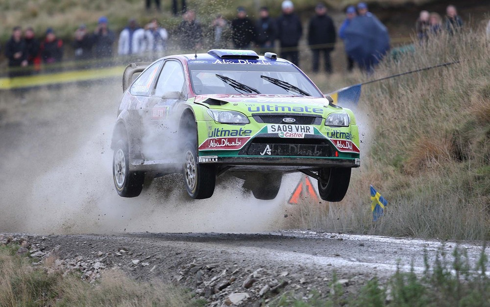 Mikko Hirvonen in the Rally of Great Britain