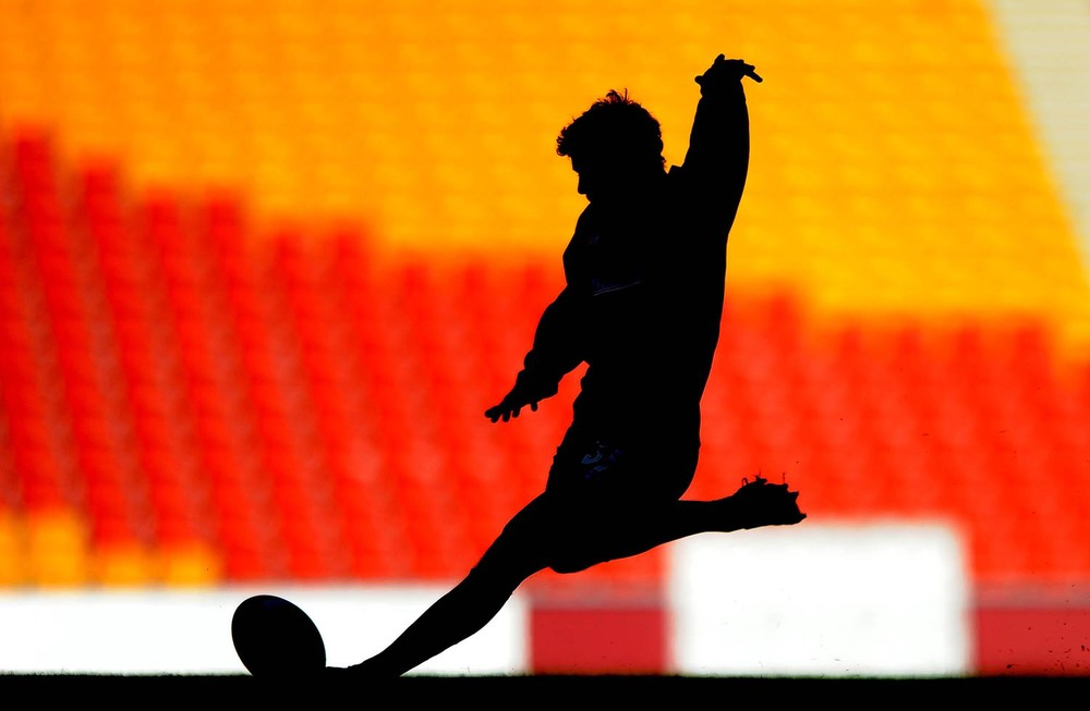 Leigh Halfpenny trains at Suncorp Stadium