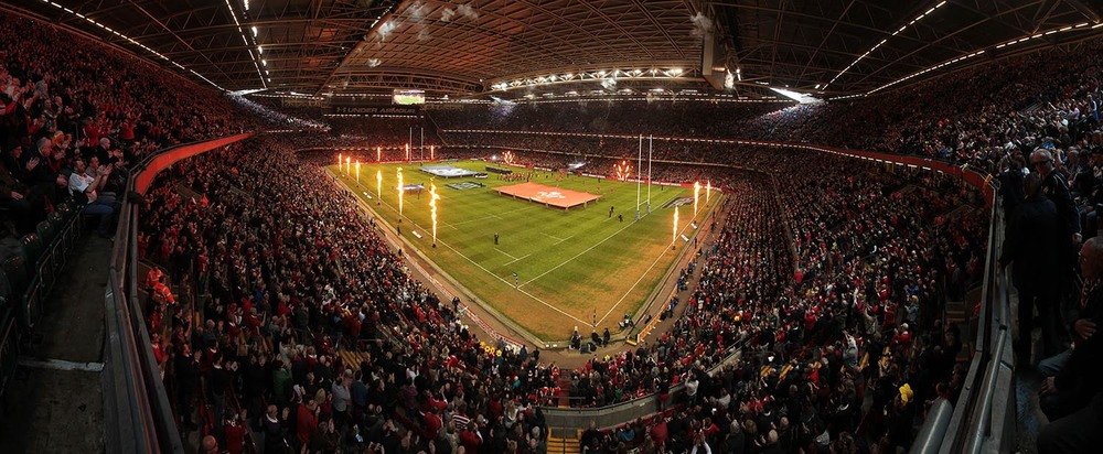 Panoramic view of the Millennium Stadium