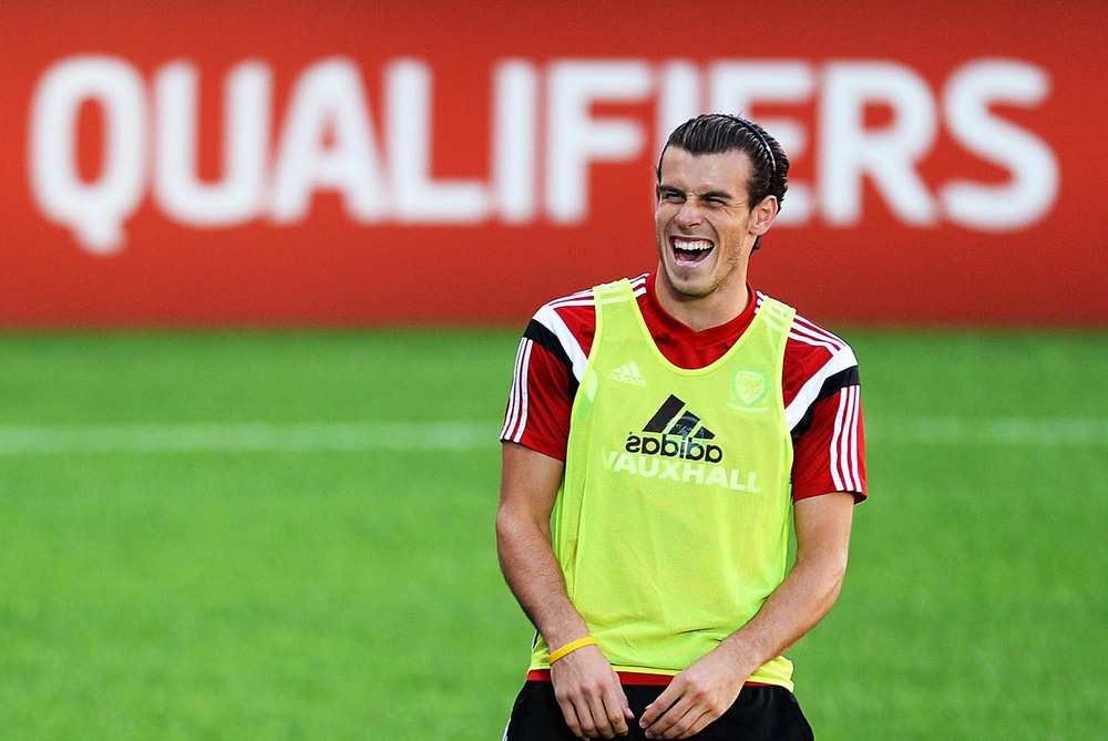 Gareth Bale during Wales training