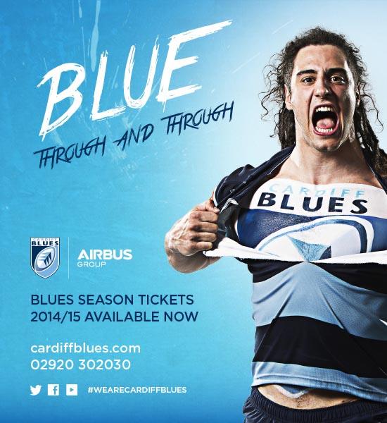 Cardiff Blues Season Ticket Advert