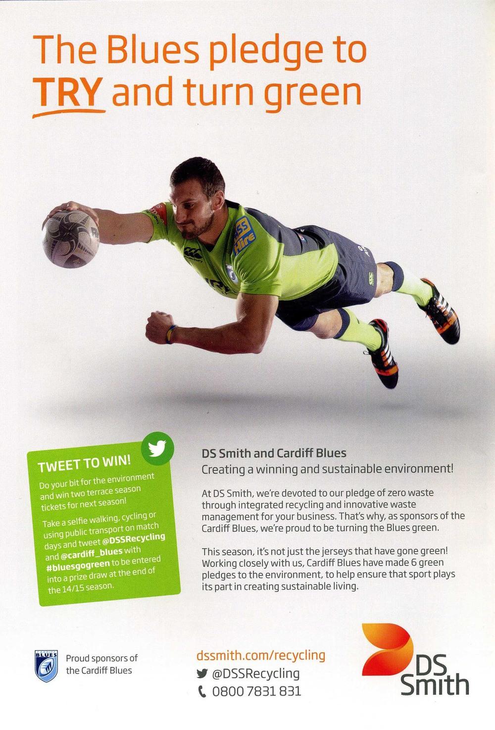 Sam Warburton - DS Smith advert