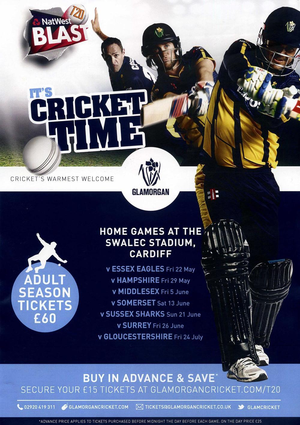 Glamorgan NatWest T20 Blast advert
