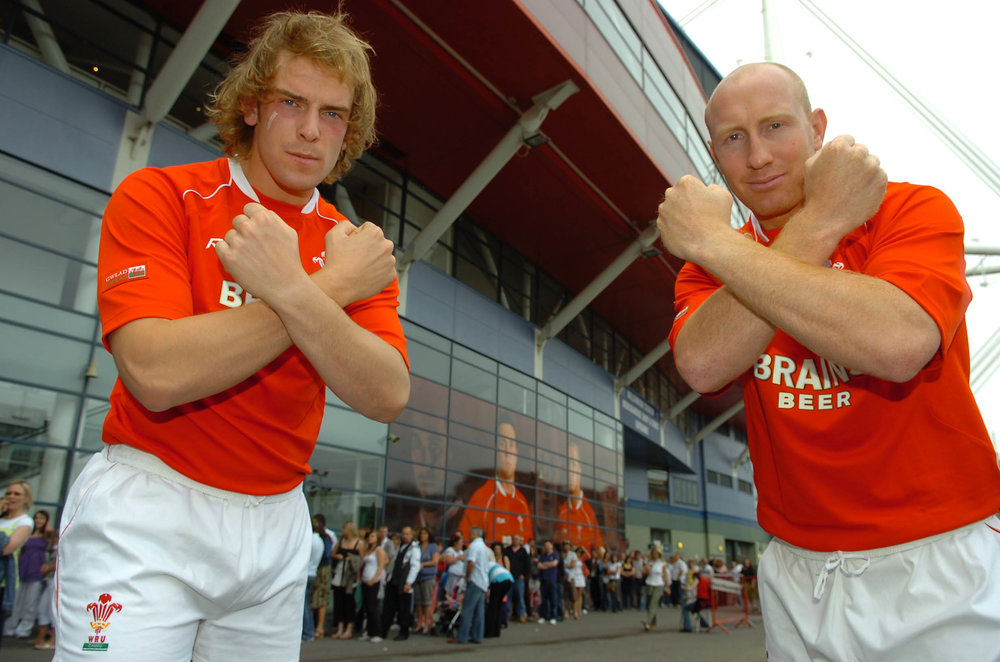 Tom Shanklin and Alun Wyn Jones at the Millennium Stadium for the X-Factor Auditions