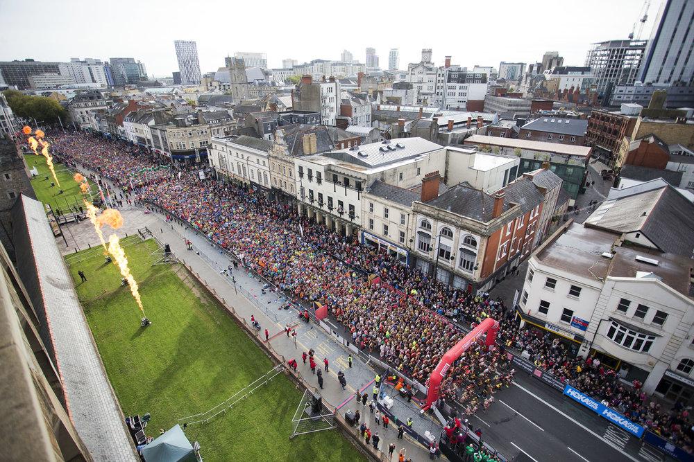 Cardiff Half Marathon Start