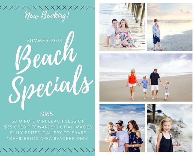 It's back!  SUMMER is finally here and so are my beach mini sessions.  These sessions have been such a huge hit in the previous years, it was a no brainer to bring them back.  Quick, affordable and only available in the Charleston area.  Perfect for vacation family photos!! Spread the news, tag your friends & out of state family.  To celebrate we're doing something crazy!!! 1. Offering a ONE time only 50% off session to one lucky family.  2. With each referral (booking client must mention your name) you get a $10 credit to use towards your very own purchase (to be used towards digital images, wall art or prints only)  Rules:  1. Must follow @gillenphotography  2. Must like this post 3. Must tag 3 friends  #summer2018 #gillenphotography #beachminis #beachsessions #beachsession #charlestonsc #mountpleasantsc #isleofpalms #follybeach #portrait_shots #portraitphotography #portraitphotographer #charlestonphotographer