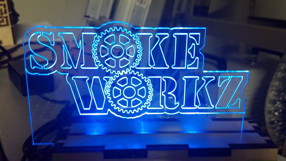 Copy of Laser cut LED acrylic signs