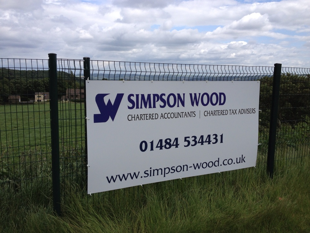 Aluminium sheet sign