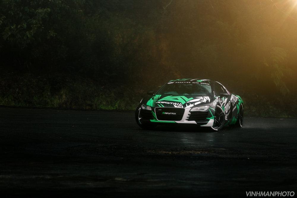 Audi R8 Drifting