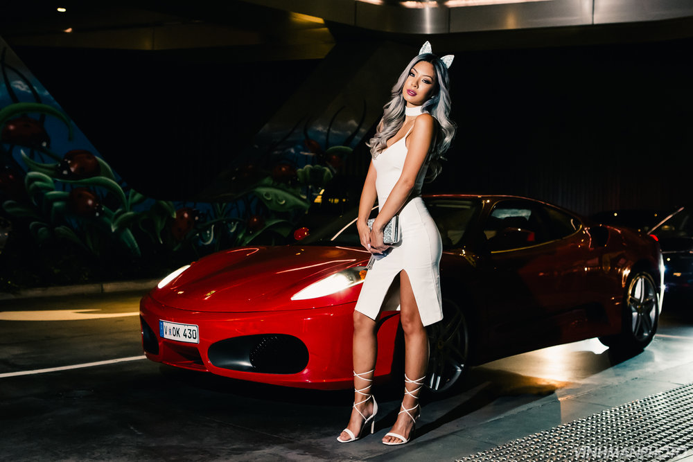 Trinity Dang & Ferrari 458 in Melbourne