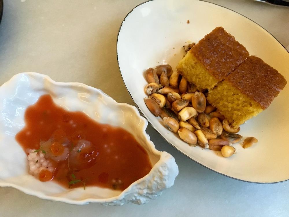 gazpacho & cornbread