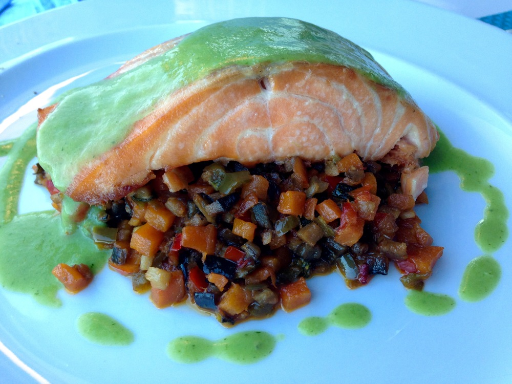 salmon + ratatouille