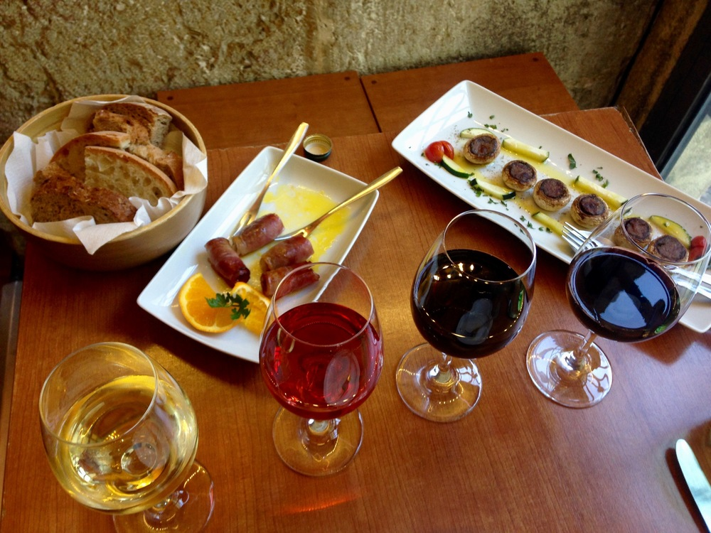 riserva wine flight