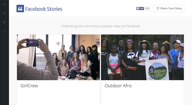 Facebook Stories microsite