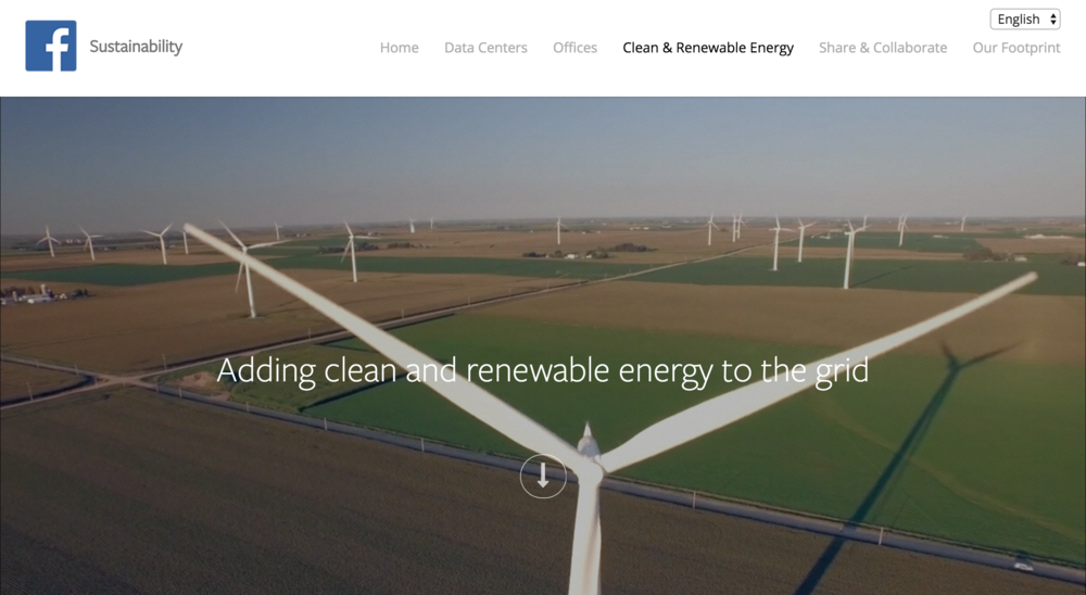 Facebook Clean & Renewable Energy page