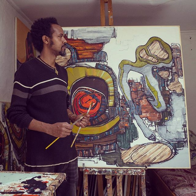 Gashahun Kassahun has been a featured voice in the Addis art community in recent years. His work captivates observers with unique forms and arrangements. Explore his work at tatugallery.com. #tatugallery #artisnow #art #artists #checkoutafrica #creative #africaart #modernart #abstractart #contemporaryart