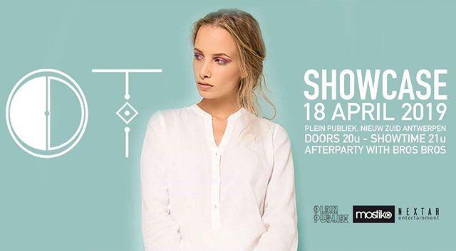 Vanavond is het zo ver! Showcase OT om 21u in Plein Publiek Antwerpen! @ot.official_ @pleinpubliek @fruitylabel @cnrrecords