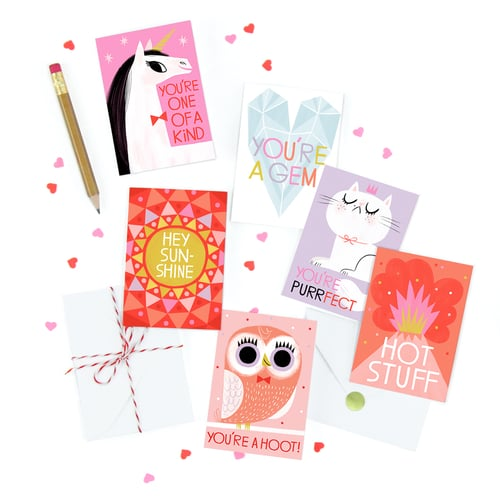 friendship mini card set hip hip