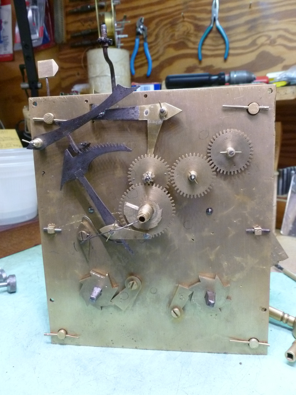 This is the front of the mechanism with the striking parts attached.