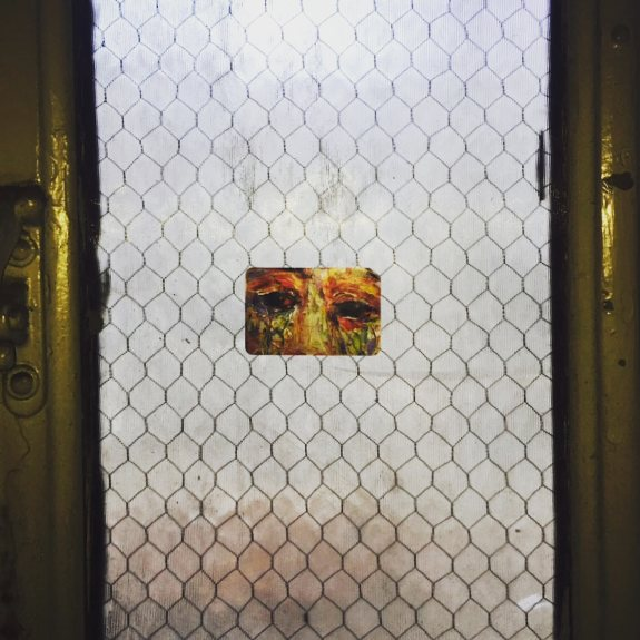 #westchelseabldg #526w26 #interior #window #center #art #illustration #paint #art #nyc #chelsea #guerillaart