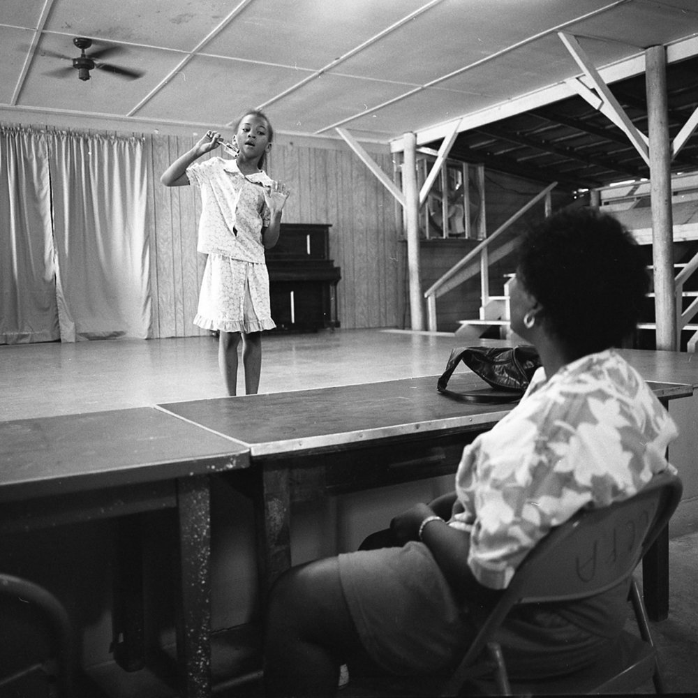 Practicing for the Talent Show, McCory, Arkansas, archival pigment print, 16x20, 1990