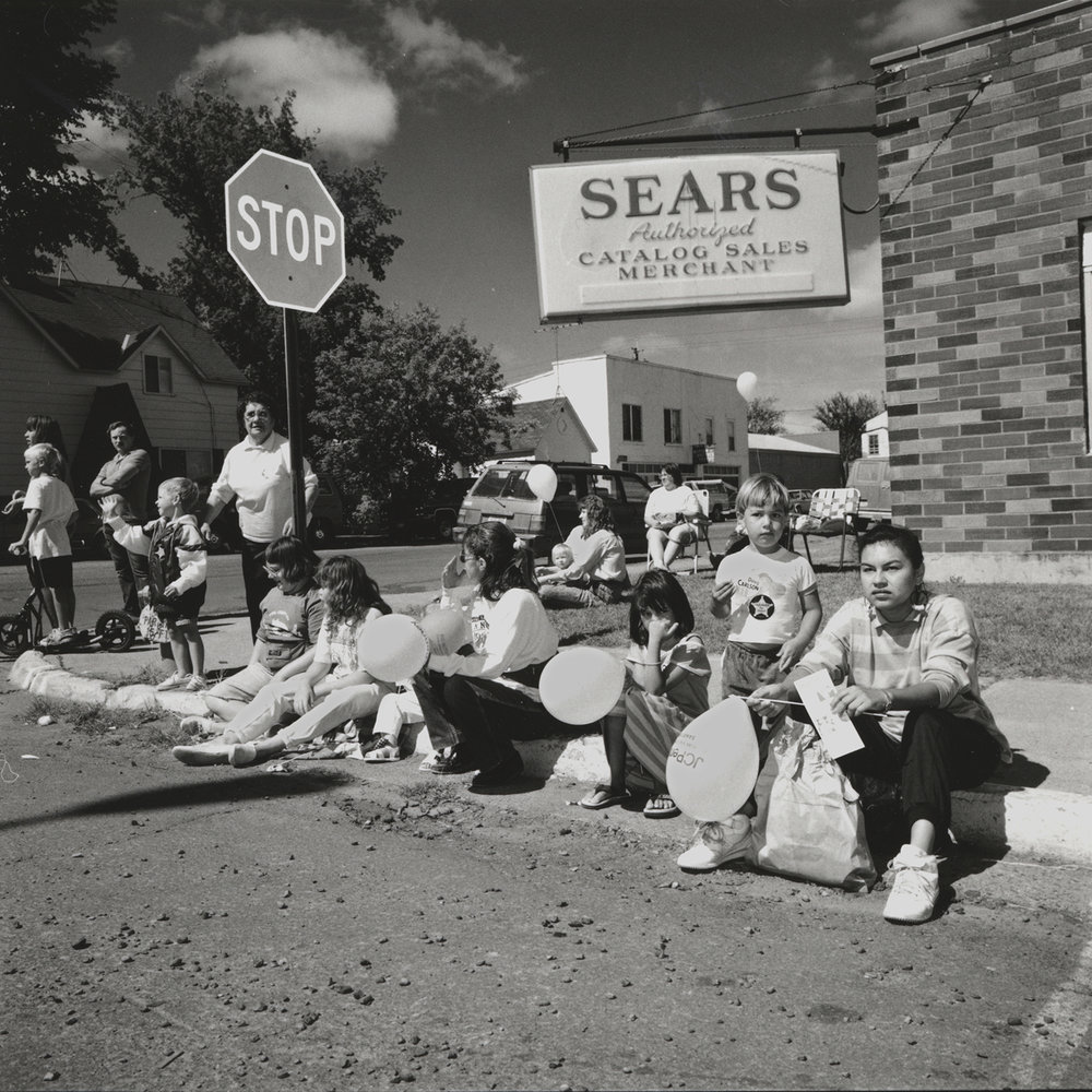 Waiting for the Parade, Pine City, Minnesota, archival pigment print, 16x20, 1990
