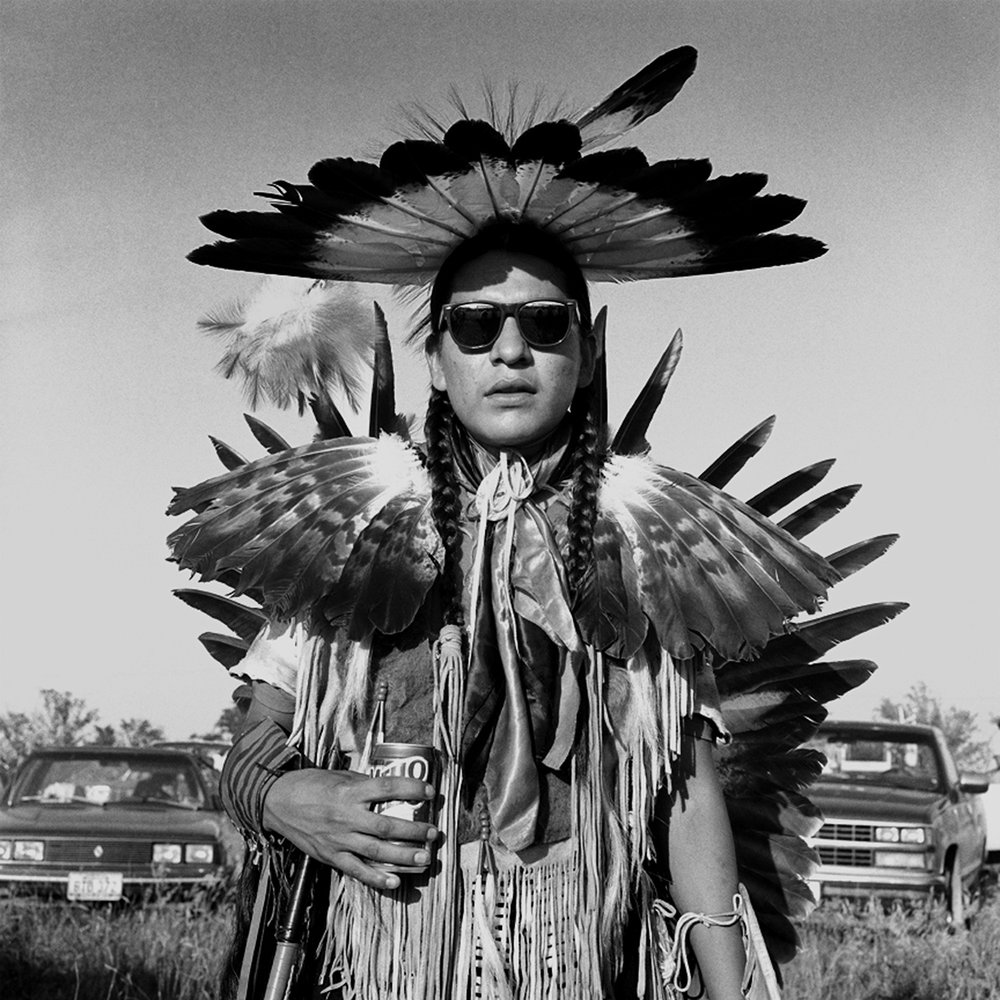 Traditional Dancer, White Shield, North Dakota, archival pigment print,16x20, 1990