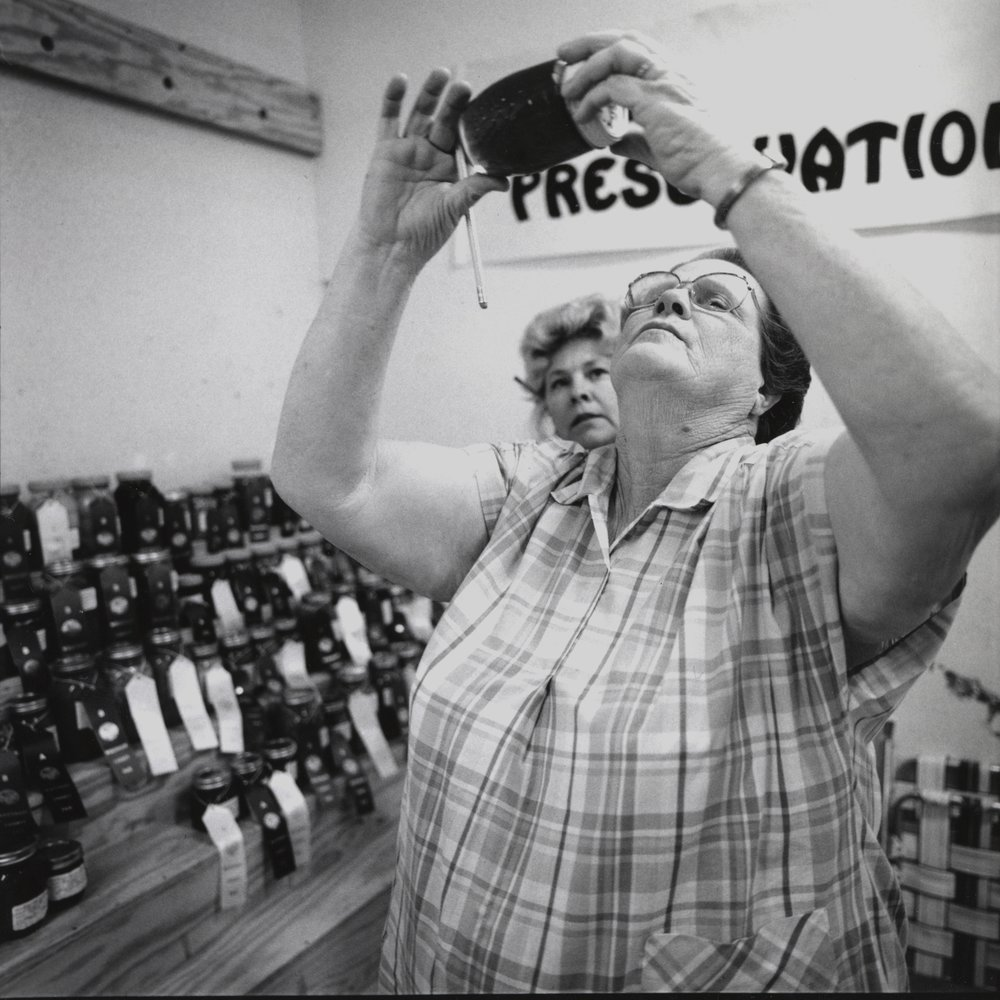 Women Judging Jam, McCrory, Arkansas, archival pigment print, 16x20, 1990