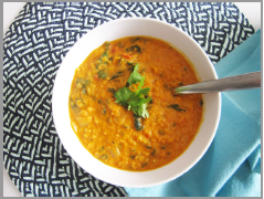 Coconut Curry Lentil Soup  by Vegangela