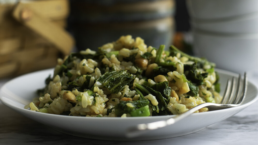 Broccoli Rabe or Mustard Greens Stir-Fry — Gracious Vegan