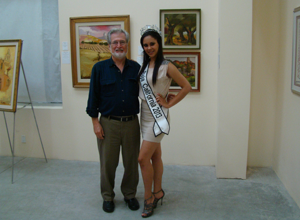 Anthony A. González and Miss Baja California