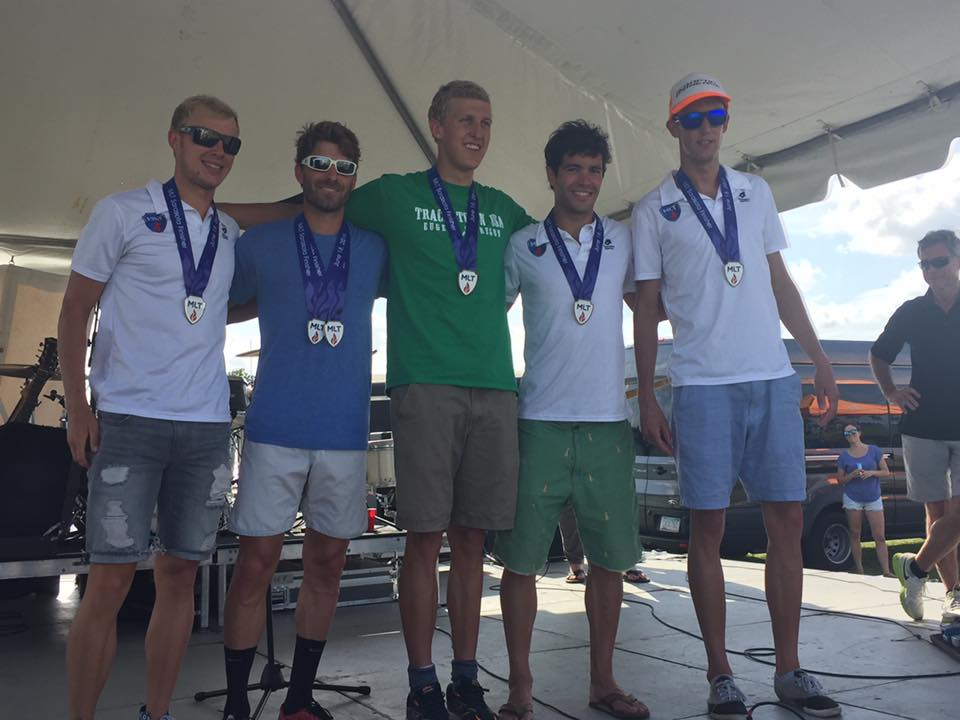 Men's individual podium (L-R: Ben Kanute, Sean Jefferson, John Rasmussen, Dan Feeney (me), and John O'Neill)
