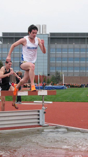 Steeplechase at the Larry Ellis Invitational (Princeton) during my sophomore year at the University of Delaware
