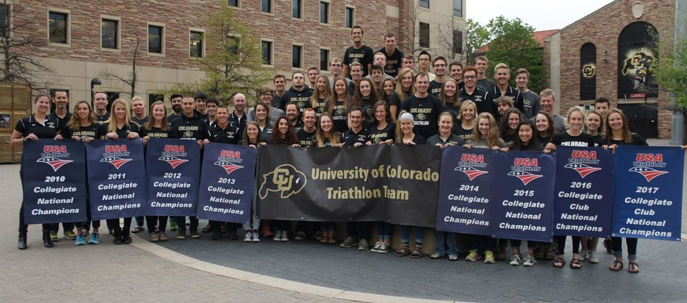 CU Triathlon team- 8 straight combined team titles.