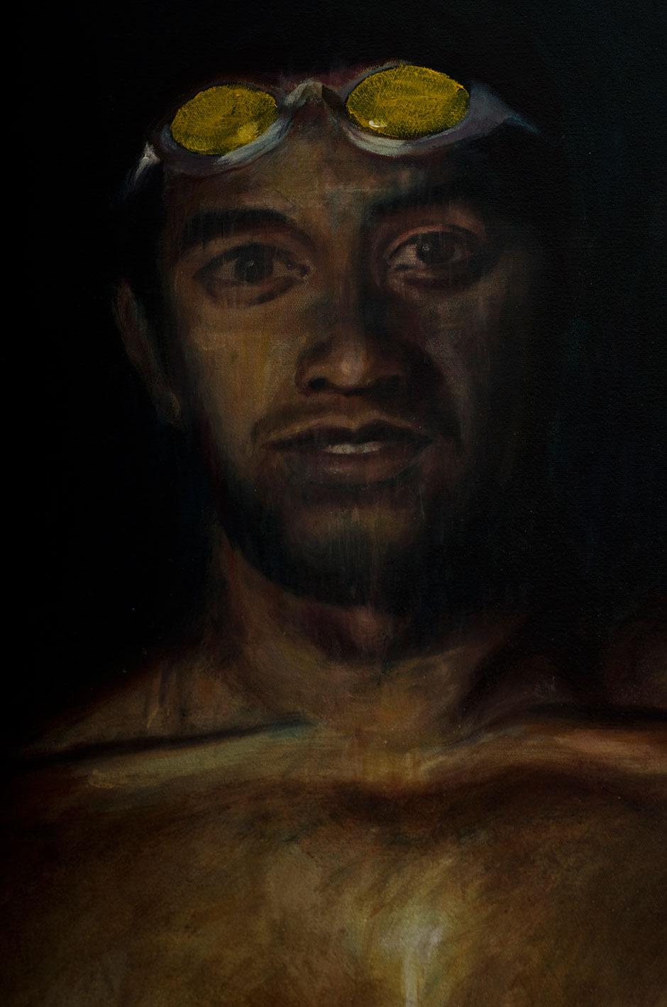 """""""Aigias of Pharsalos (detail)"""". Oil on Canvas. 2011"""