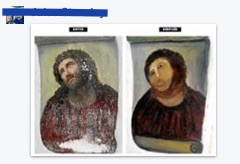 Someone crudely implied that my work was similar to this restoration disaster,