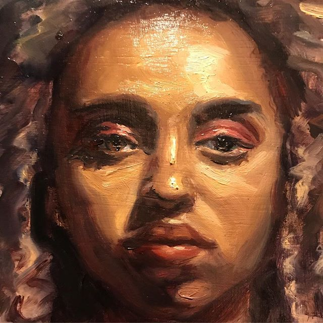 Detail of a small portrait I finished today. It will be on sale at my studio sale at The Dialogue this Thursday. Everything must go before I leave for Florence! . . . #painting #portraitpainting #oilpainting #art #artist #artwork #artoftheday #fromlife #paintingfromlife #paintanyway #instaart #clapton #contemporarypainting