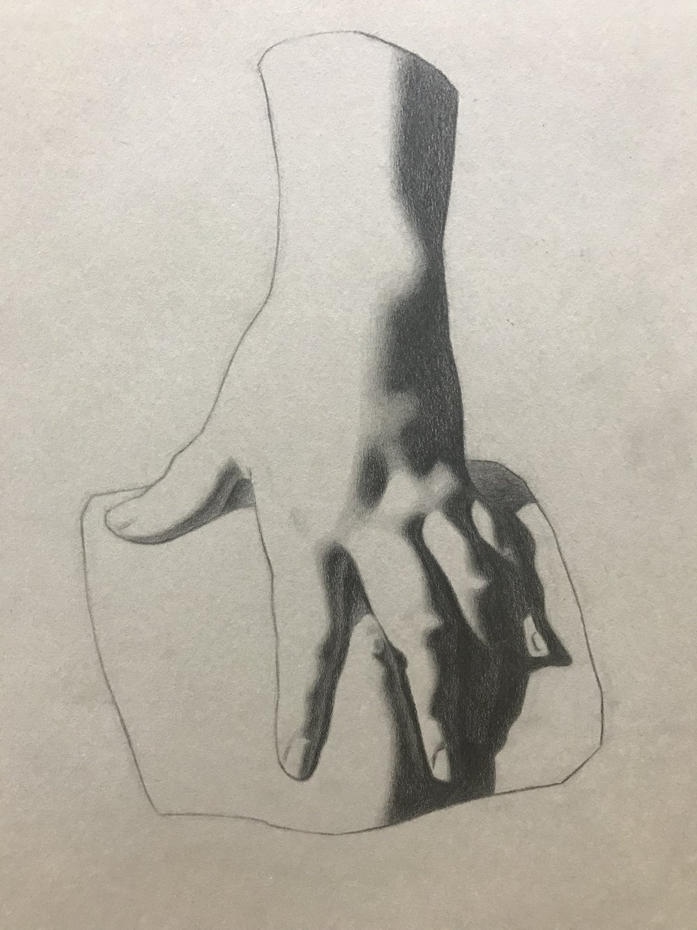 Hand, Bargue copy in