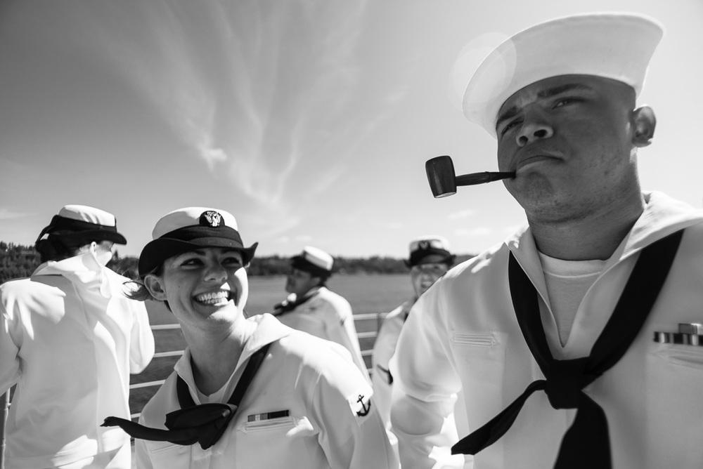 On the USS Bunker Hill, Seattle WA, August 2012