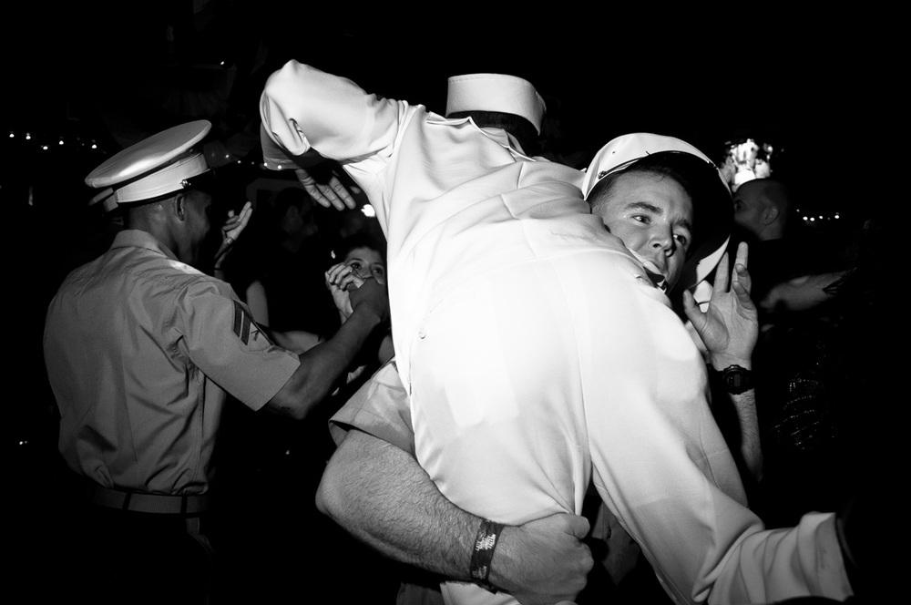 Marine Carries Sailor, New York NY, May 2012