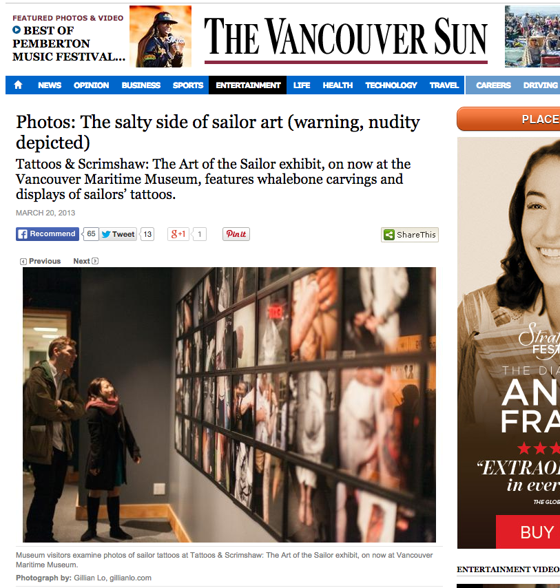 The Vancouver Sun, Vancouver BC, March 2013
