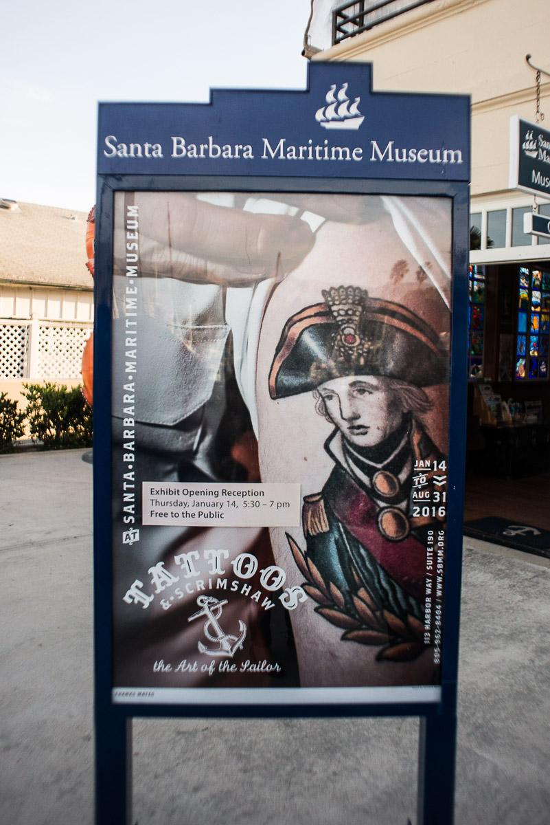 Poster, Tattoos & Scrimshaw: the Art of the Sailor, Santa Barbara Maritime Museum, Santa Barbara CA, March 2016